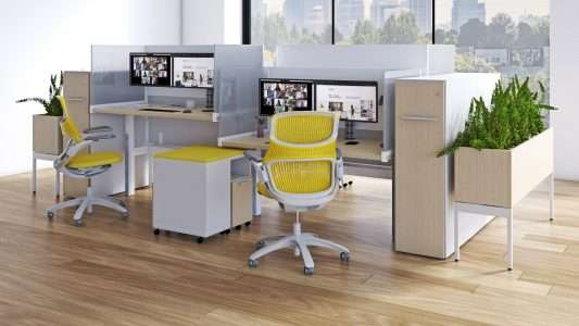 antenna desk surrounds laminate back panel with glass end screens antenna planter k.bench generation task chair hybrid tall storage mobile storage